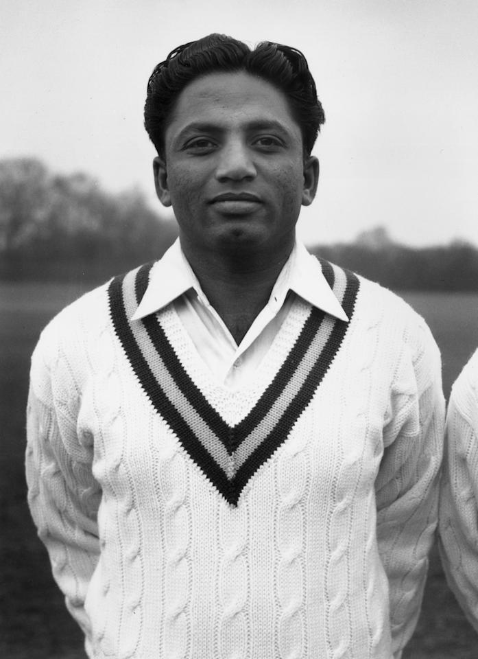 8th May 1954:  Wazir Mohammad of the Pakistani cricket team.  (Photo by Douglas Miller/Keystone/Getty Images)