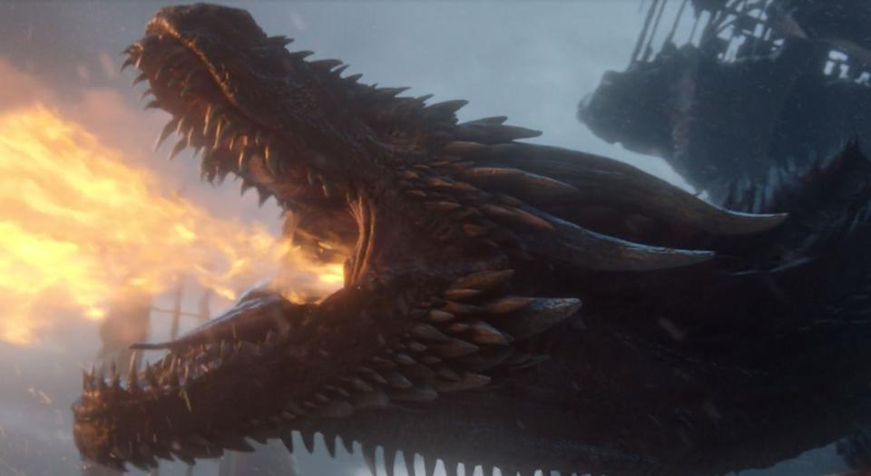 Everyone predicting there would be no throne in the end, you win.<br /><br />Following Dany's death, her last dragon, Drogon, arrived in the throne room and, rather than doing anything to Jon Snow, just took out his anger on the tacky furniture. Like many had predicted, Drogon melted the throne. He then picked up his mom's body and flew out of sight.