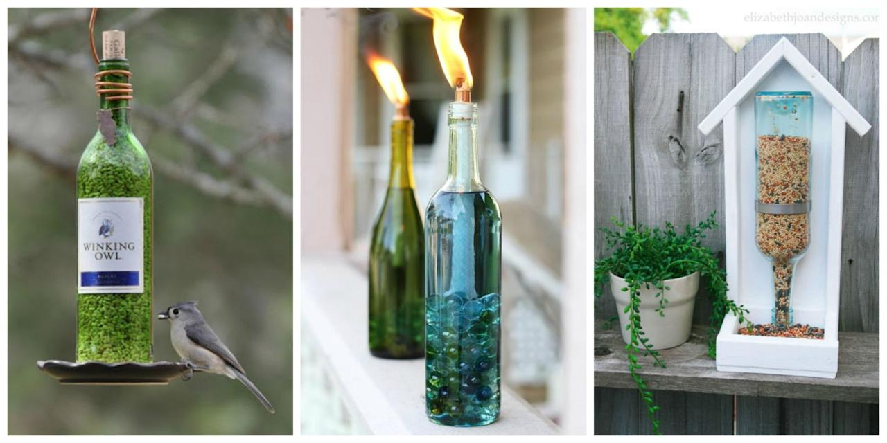 <p>There's no better way to pay tribute to your favourite tipple, and help the environment, than by upcycling your empty bottles</p>