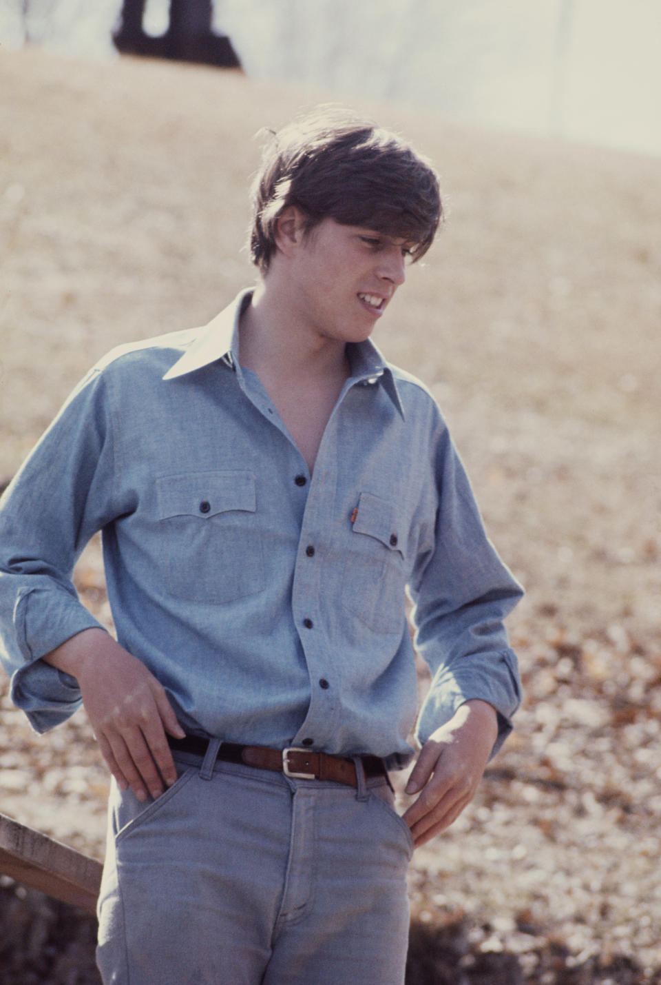 """<div class=""""caption-credit"""">Photo by: Getty Images</div>When he was a rugged 17-year-old, Prince Andrew, the Duke of York and brother of Charles, worked on a farm in Ontario. <br>"""