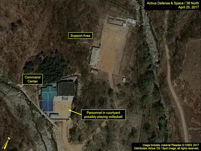 Commercial satellite imagery of the Punggye-ri Nuclear Test Facility released on May 3, 2017 (Airbus Defense & Space and 38 North)