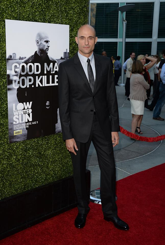 HOLLYWOOD, CA - JULY 25: Actor Mark Strong attends the AMC's New Series 'Low Winter Sun' Los Angeles premiere held at ArcLight Hollywood on July 25, 2013 in Hollywood, California. (Photo by Jason Merritt/Getty Images)