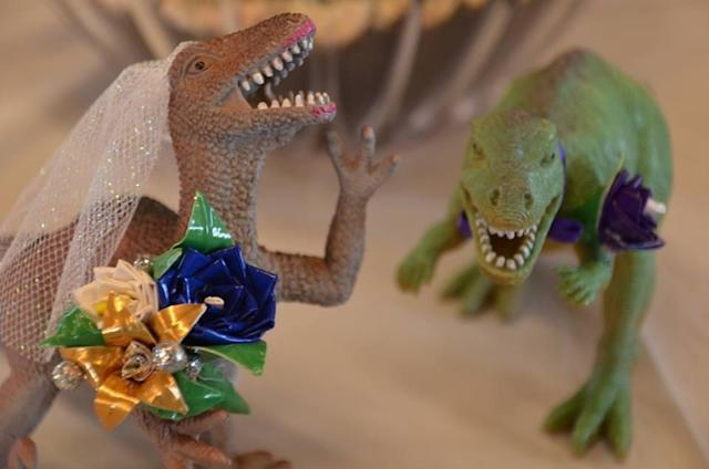 A D.C. bride-to-be had the dinosaur-themed bridal shower of her dreams. (Photo: Courtesy Katelyn Machnica)