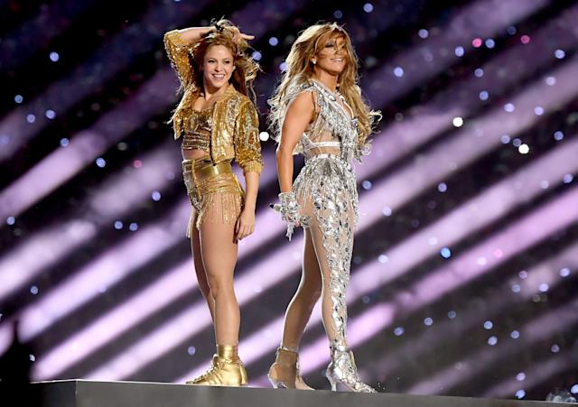 Shakira y Jennifer Lopez. (Photo by Kevin Winter/Getty Images)