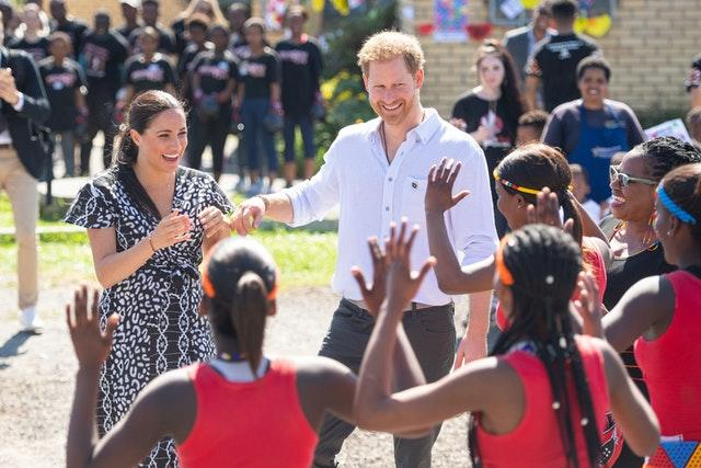 The Sussexes in the Nyanga Township on Monday
