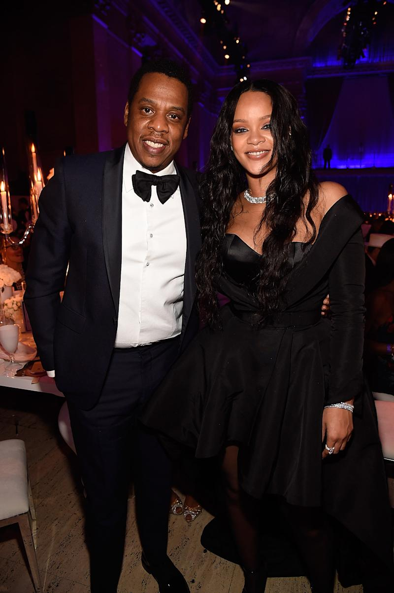 Jay-Z and Rihanna attend Rihanna's 3rd Annual Diamond Ball Benefitting The Clara Lionel Foundation at Cipriani Wall Street on September 14, 2017 in New York City. (Photo by Kevin Mazur/Getty Images for Clara Lionel Foundation)