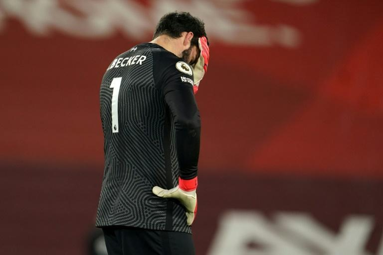 Alisson blunderland: Alisson Becker made two costly errors in Liverpool's 4-1 defeat to Manchester City