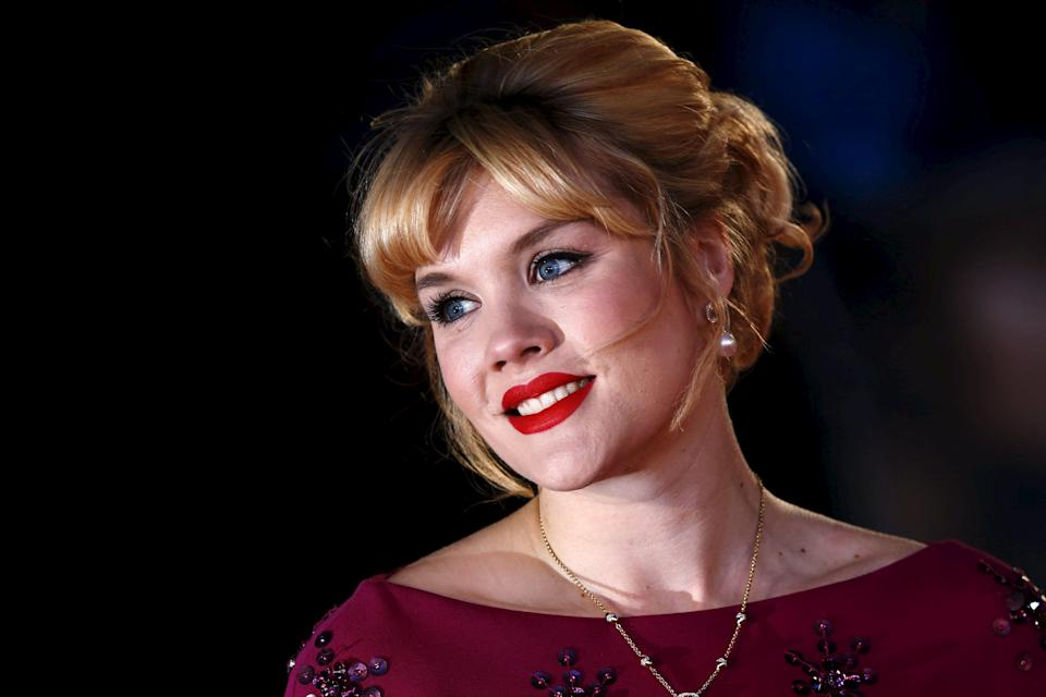 """Actress Emerald Fennell poses she arrives for the UK premiere of """"The Danish Girl"""" at Leicester Square in London, Britain, December 8, 2015. REUTERS/Luke MacGregor"""