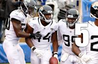 <p>Leonard Fournette's hamstring injury doesn't look like a multi-week injury. The concerning part is maybe this is just what Fournette is. (Myles Jack) </p>
