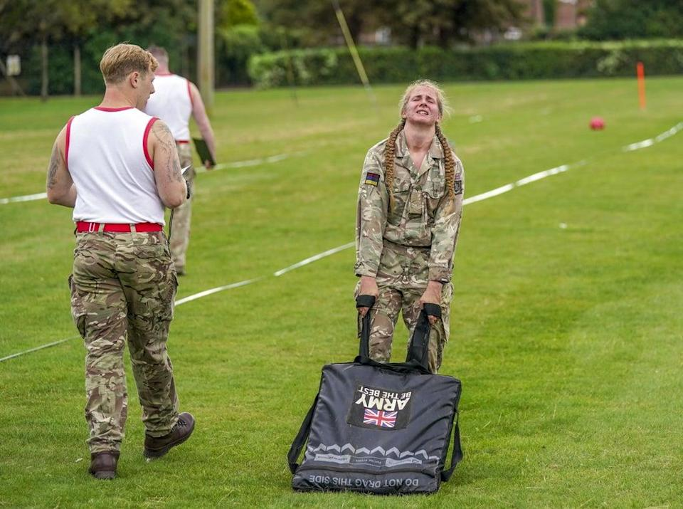 The British Army Warrior Fitness competition was launched during the pandemic (Steve Parsons/PA) (PA Wire)