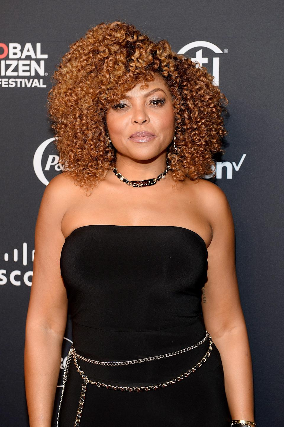 """""""This look is fun and head-turning without being too drastic of a change from deeper tones,"""" says Dark and Lovely celebrity stylist <a href=""""https://www.instagram.com/derickmonroe/"""" rel=""""nofollow noopener"""" target=""""_blank"""" data-ylk=""""slk:Derick Monroe"""" class=""""link rapid-noclick-resp"""">Derick Monroe</a>. If you're going to go lighter, Monroe stresses the importance of keeping your hair healthy enough to handle color. """"The last thing you want to do is a chemical process on already damaged hair,"""" he says. """"A pro tip is to have a maintenance program to keep your hair healthy, shiny, and moisturized. That could be as simple as a <a href=""""https://www.glamour.com/gallery/best-hair-masks-for-dry-damaged-hair?mbid=synd_yahoo_rss"""" rel=""""nofollow noopener"""" target=""""_blank"""" data-ylk=""""slk:deep conditioning treatment"""" class=""""link rapid-noclick-resp"""">deep conditioning treatment</a> at home."""""""