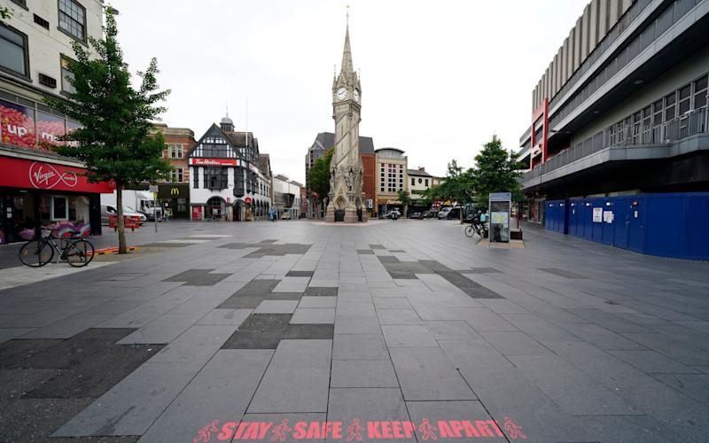Leicester city centre was left deserted due to the lockdown - TIM KEETON/EPA-EFE/Shutterstock