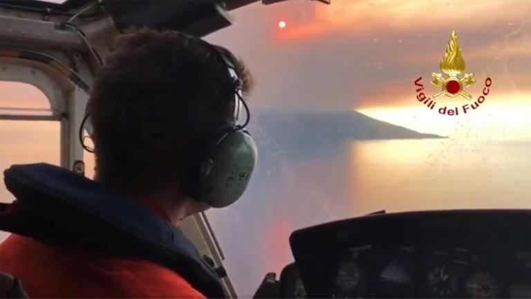 A firefighting plane could not put out fires in the area because of the amount of smoke, Italian media reported (AFP Photo/Handout)