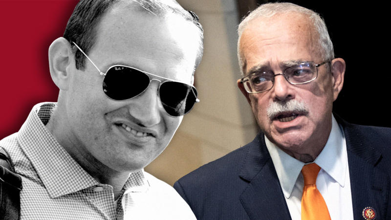 Zachary Fuentes, left, and Gerry Connolly
