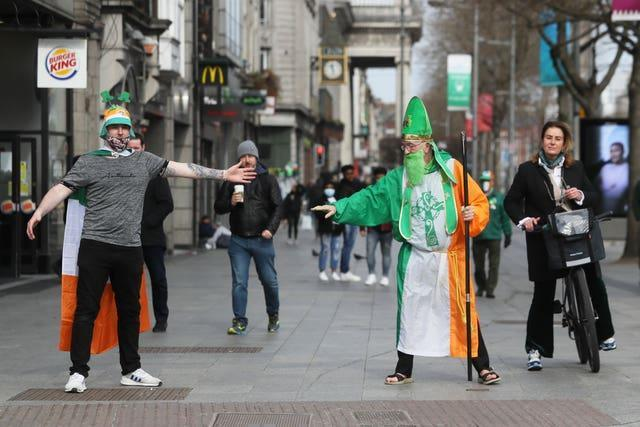 St Patrick's Day is marked in O'Connell Street in Dublin (Brian Lawless/PA)