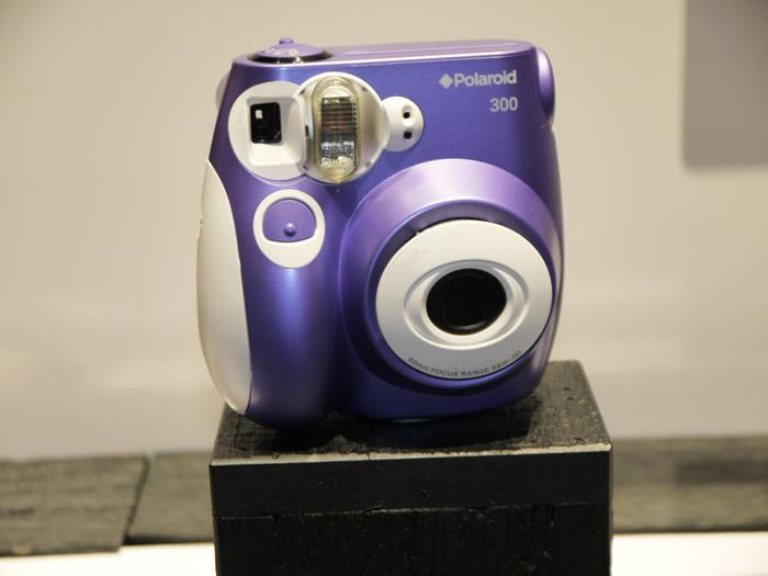 Polaroid (yes, the company still makes instant cameras) showed its PolPic 300, which takes business-card sized photos. (Scott Ard/Yahoo! News)