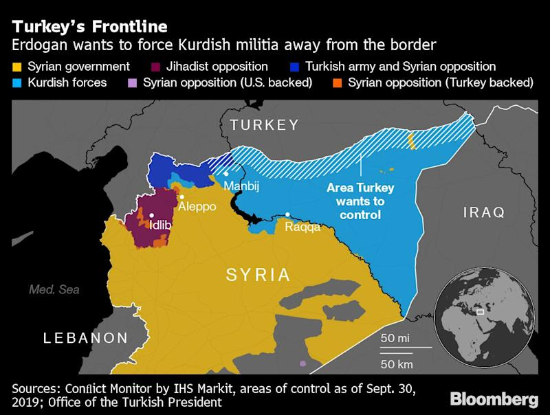 Image result for turkey action in syria map