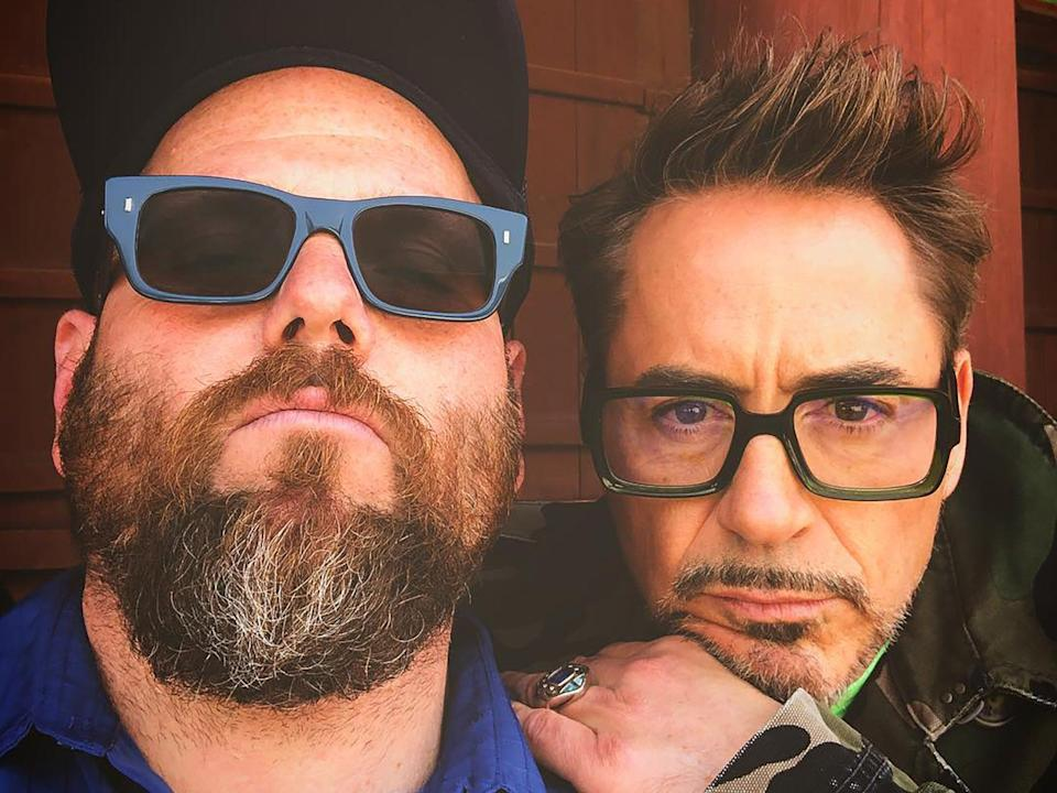 A selfie of Jimmy Rich and Robert Downey Jr, from the late personal assistant's Instagram page (Instagram/Jimmy Rich)