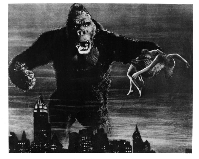Fay Wray is grabbed by King Kong in a scene from the film 'King Kong', 1933. (Photo by RKO Radio Pictures/Getty Images)