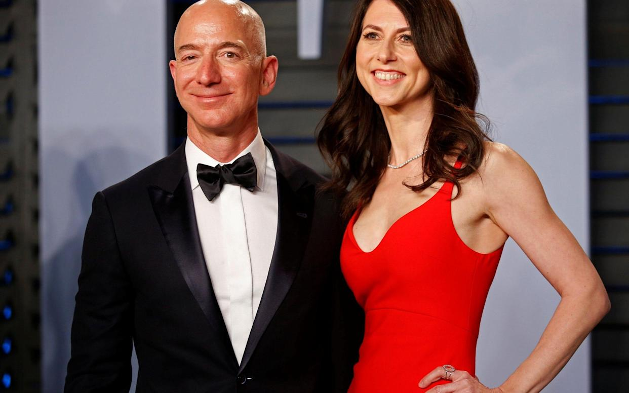 Jeff and MacKenzie Bezos have reached a divorce agreement - REUTERS