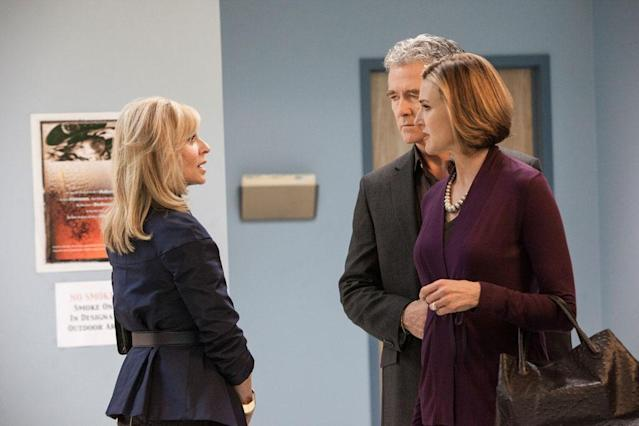 "Judith Light, Patrick Duffy and Brenda Strong in the ""Dallas"" Season 2 episode, ""Sins of the Father."""