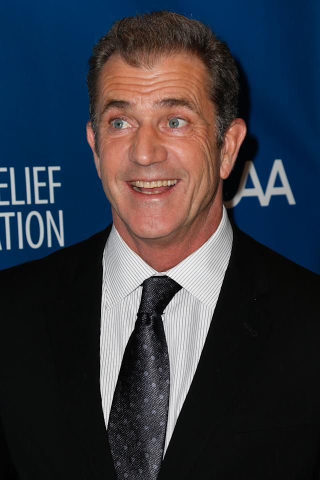 LOS ANGELES, CA - JANUARY 12:  Actor Mel Gibson attends the 2nd Annual Sean Penn and Friends Help Haiti Home Gala benefiting J/P HRO presented by Giorgio Armani at Montage Hotel on January 12, 2013 in Los Angeles, California.  (Photo by Imeh Akpanudosen/Getty Images)