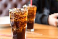 "<p>Speaking of sweet drinks, sugar-sweetened beverages make up about half of all added sugars in the average American's daily diet. For each additional sugar-packed drink, such as cola, you drink each day, you increase your risk for both heart disease and <a href=""https://www.prevention.com/health/health-conditions/g27376679/reduce-risk-of-stroke/"" rel=""nofollow noopener"" target=""_blank"" data-ylk=""slk:stroke"" class=""link rapid-noclick-resp"">stroke</a>, according to a <u><a href=""https://www.ncbi.nlm.nih.gov/pubmed/23321486/"" rel=""nofollow noopener"" target=""_blank"" data-ylk=""slk:British Medical Journal"" class=""link rapid-noclick-resp"">British Medical Journal</a></u> 2012 review. A Journal of the American College of Cardiology <a href=""http://dx.doi.org/10.1016/j.jacc.2018.05.030"" rel=""nofollow noopener"" target=""_blank"" data-ylk=""slk:meta-analysis"" class=""link rapid-noclick-resp"">meta-analysis</a> found that frequent consumption of all sweetened drinks, including soda, faux fruit juices and sports drinks, makes you more likely to die of atherosclerosis.</p>"