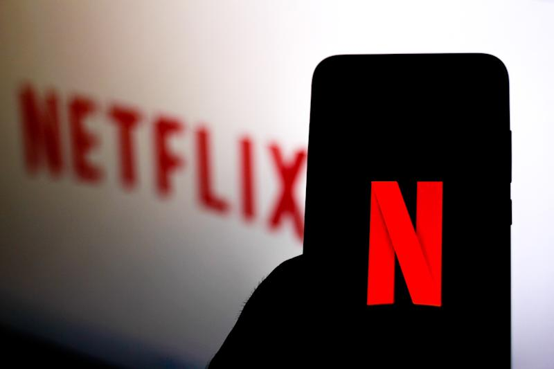 BRAZIL - 2019/12/11: In this photo illustration the Netflix logo is seen displayed on a smartphone. (Photo Illustration by Rafael Henrique/SOPA Images/LightRocket via Getty Images)