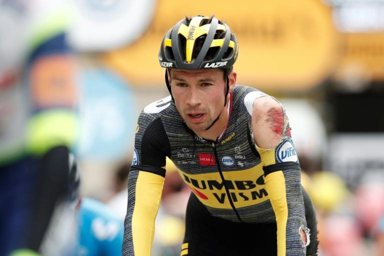Primoz Roglic lost plenty of skin and a more than a minute in the standings