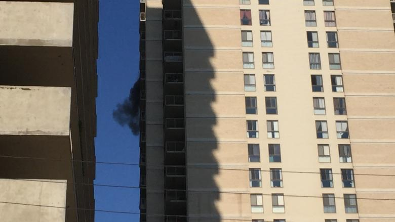 Residents in fire-damaged tower can stay until city orders them out, despite letter saying leave 'immediately'