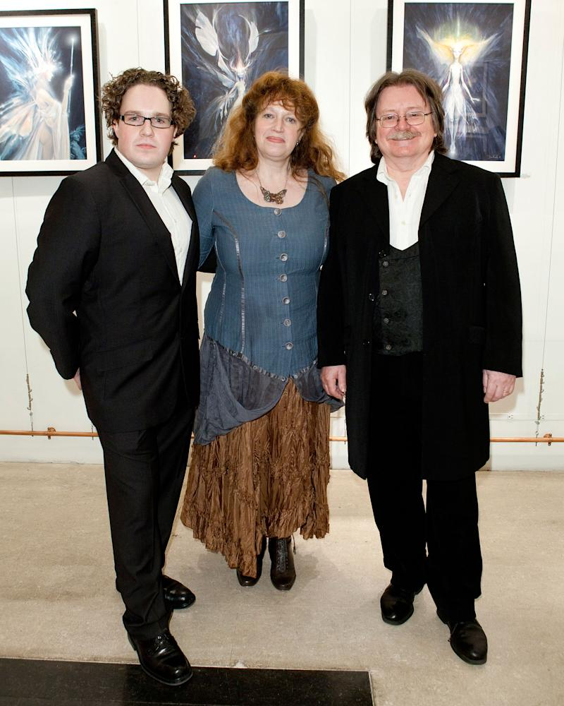NEW YORK, NY - DECEMBER 01: (L-R) Toby Froud, Wendy Froud, and Brian Froud attend the Brian Froud: Visions for Film and Faerie exhibition opening night at the Animazing Gallery on December 1, 2011 in New York City. (Photo by Dario Cantatore/Getty Images)