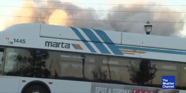 The bus blocked the entire view. (The Weather Channel)