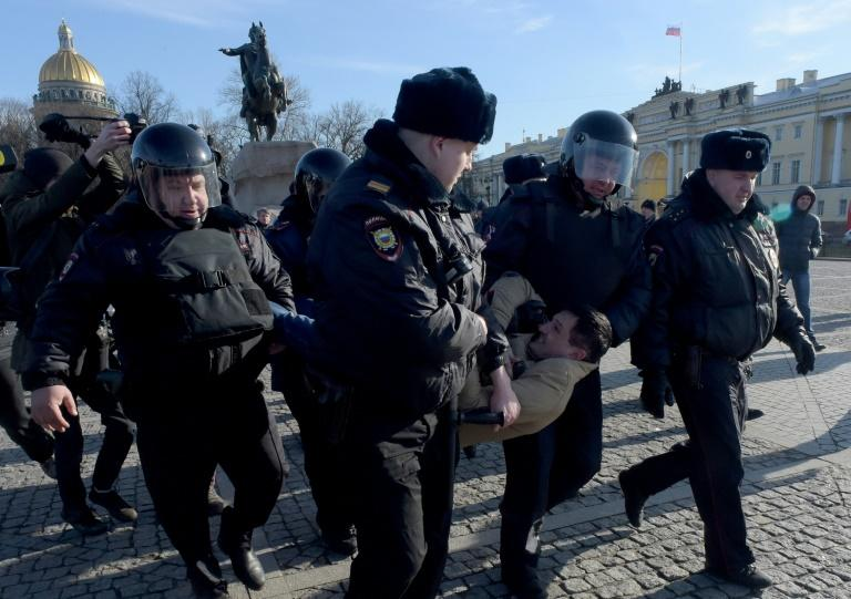 Opposition supporters have staged a series of one-person picket protests, the only kind allowed in Russia without previous permission