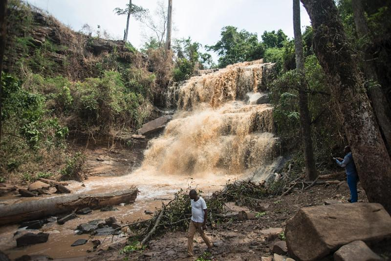 Twenty students were killed in a freak accident at the popular tourist destination of Kintampo Falls in Ghana (AFP Photo/CRISTINA ALDEHUELA)