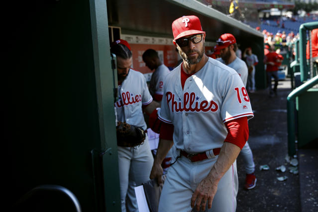 Phillies manager Gabe Kapler was given a vote of confidence on Monday. (AP Photo/Patrick Semansky)
