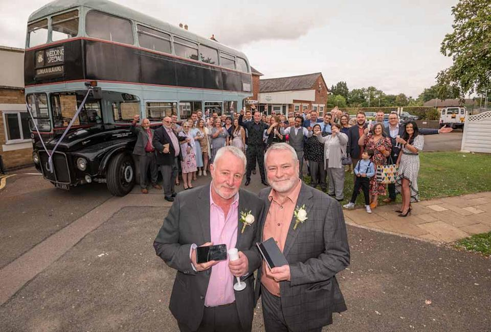 John and Richard celebrated their big day over the bank holiday weekend. (Jamie Gray/PinPep/PA Real Life)
