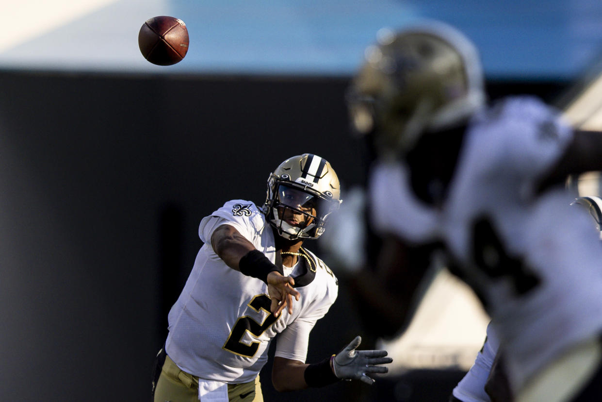 Jameis Winston led the New Orleans Saints to a big Week 1 win. (Photo by James Gilbert/Getty Images)