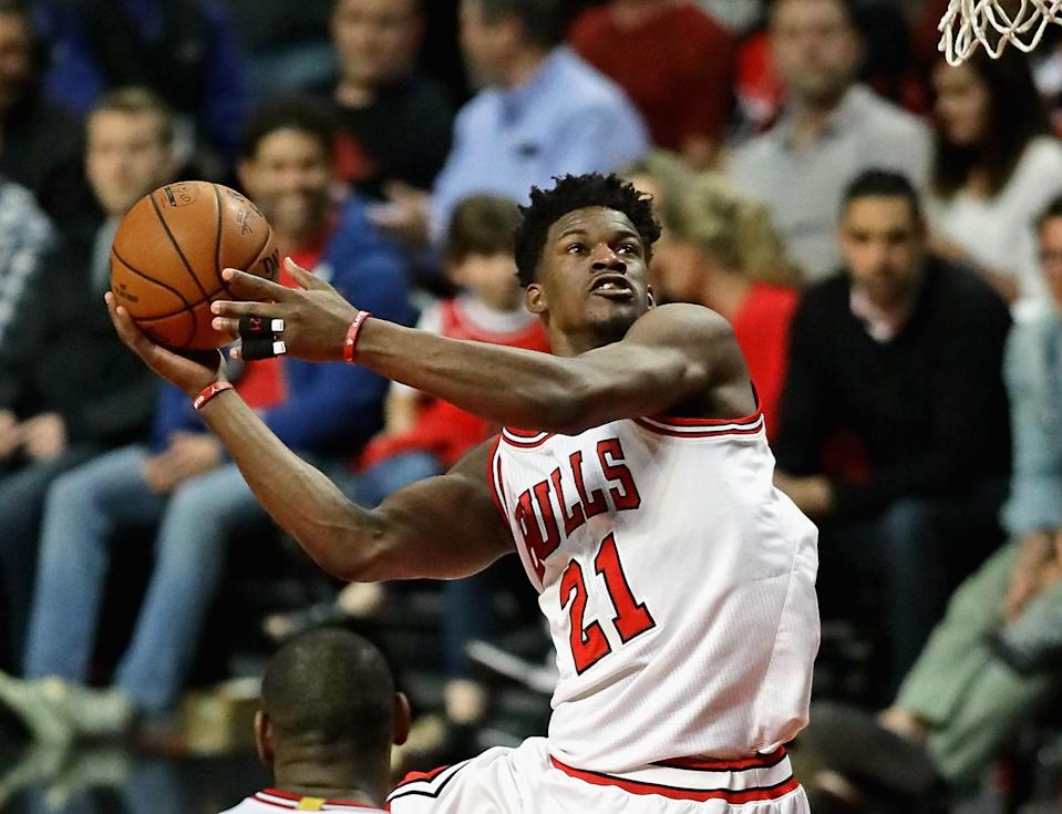 Jimmy Butler is on the move. (Getty Images)