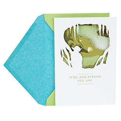 """<p><strong>Hallmark</strong></p><p>amazon.com</p><p><strong>$4.99</strong></p><p><a href=""""https://www.amazon.com/dp/B079Z8SPRZ?tag=syn-yahoo-20&ascsubtag=%5Bartid%7C10055.g.27275337%5Bsrc%7Cyahoo-us"""" rel=""""nofollow noopener"""" target=""""_blank"""" data-ylk=""""slk:Shop Now"""" class=""""link rapid-noclick-resp"""">Shop Now</a></p><p>Your <em>Star Wars</em>-loving dad will appreciate the sweet sentiment written on the outside of this card: """"Wise and strong you are."""" Sounds about right!</p><p><strong>RELATED: </strong><a href=""""https://www.goodhousekeeping.com/holidays/gift-ideas/g27116208/best-gifts-for-dads/"""" rel=""""nofollow noopener"""" target=""""_blank"""" data-ylk=""""slk:The Best Gifts to Give Dad on Father's Day"""" class=""""link rapid-noclick-resp"""">The Best Gifts to Give Dad on Father's Day </a></p>"""