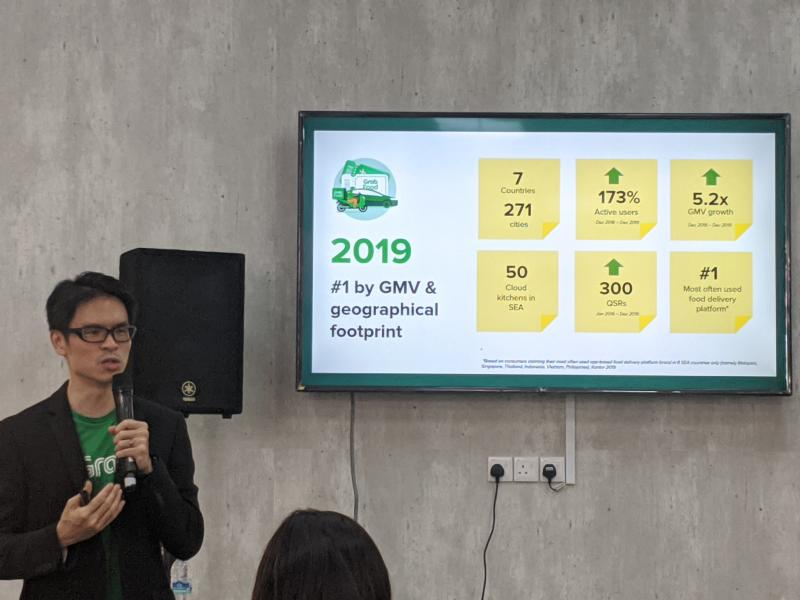 Regional head of GrabFood Lim Kell Jay at the launch event on 8 January, 2020. (PHOTO: Yahoo News Singapore)