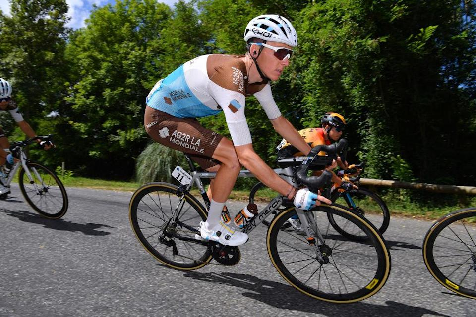 Romain Bardet (AG2R La Mondiale) rode to eighth place on stage 3 of the 2020 Route d'Occitanie, despite being in pain following a crash on the opening day