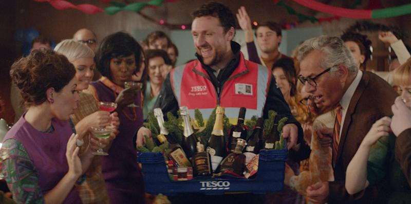 A Tesco delivery driver goes back in time in its new ad
