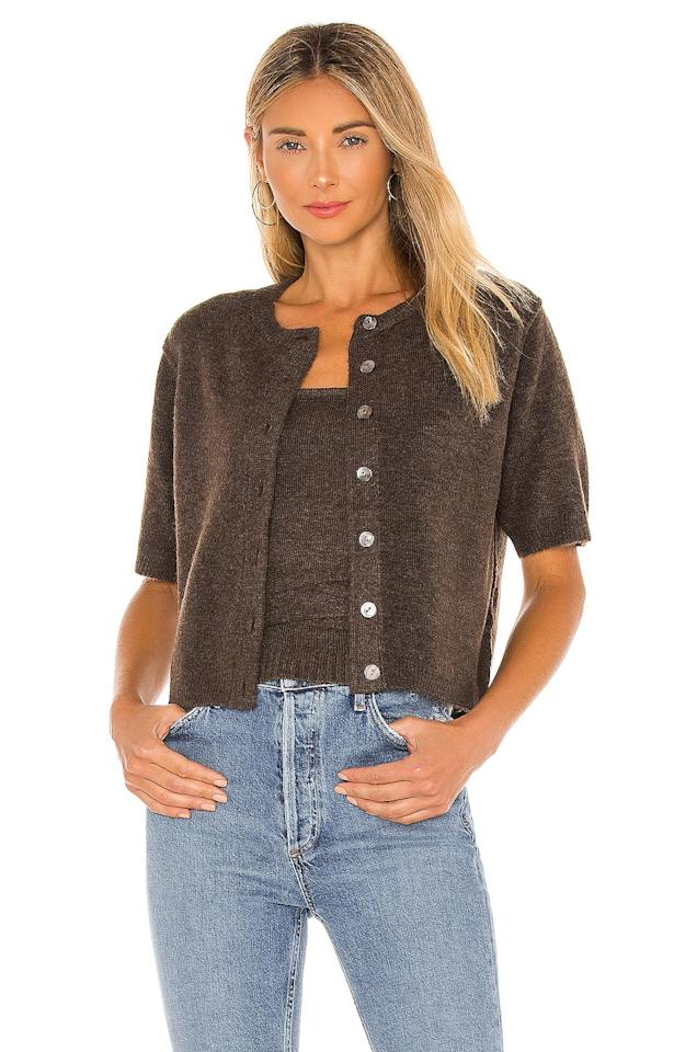 """<p>Line &amp; Dot's <product href=""""https://www.revolve.com/line-dot-emily-blouse/dp/LEAX-WK90/?d=Womens&amp;page=1&amp;lc=36&amp;itrownum=9&amp;itcurrpage=1&amp;itview=05"""" target=""""_blank"""" class=""""ga-track"""" data-ga-category=""""internal click"""" data-ga-label=""""https://www.revolve.com/line-dot-emily-blouse/dp/LEAX-WK90/?d=Womens&amp;page=1&amp;lc=36&amp;itrownum=9&amp;itcurrpage=1&amp;itview=05"""" data-ga-action=""""body text link"""">Emily Blouse</product> ($69) and <product href=""""https://www.revolve.com/line-dot-megan-wrap-sweater-top/dp/LEAX-WS209/?d=Womens&amp;page=1&amp;lc=37&amp;itrownum=10&amp;itcurrpage=1&amp;itview=05"""" target=""""_blank"""" class=""""ga-track"""" data-ga-category=""""internal click"""" data-ga-label=""""https://www.revolve.com/line-dot-megan-wrap-sweater-top/dp/LEAX-WS209/?d=Womens&amp;page=1&amp;lc=37&amp;itrownum=10&amp;itcurrpage=1&amp;itview=05"""" data-ga-action=""""body text link"""">Megan Wrap Sweater Top</product> ($64) are perfect for transitional weather. We love how the top has a strappy back.</p>"""