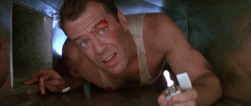 Bruce Willis in Die Hard (Credit: 20th Century Fox)