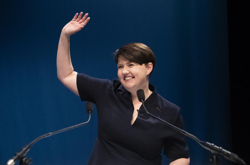 File photo dated 04/05/19 of Scottish Conservative leader Ruth Davidson who has rejected suggestions that the Scottish Tories could break away from the UK Conservative party. Writing in the Sunday Times, former Tory chairman Peter Duncan suggested that, if Boris Johnson is to become the next prime minister, it could create an existential crisis for the party north of the border.