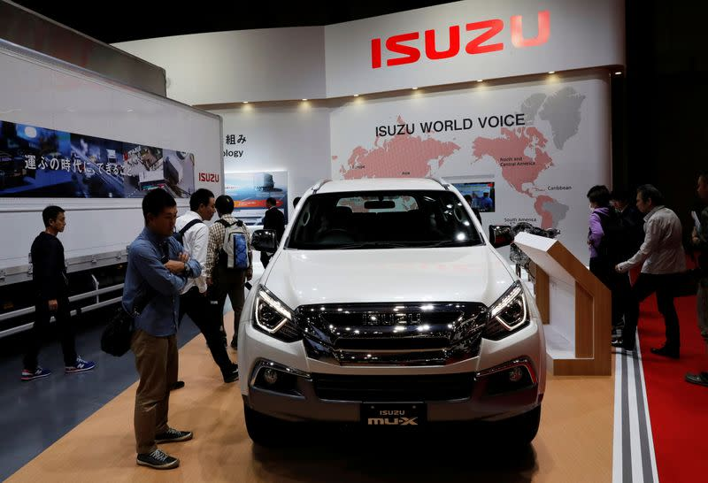 Isuzu Motors' MU-X is pictured at the 45th Tokyo Motor Show in Tokyo