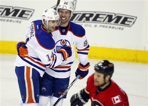 Gagner has 3 points in Oilers' 6-1 win over Flames