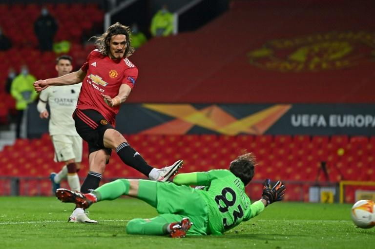 Edinson Cavani struck twice as Manchester United thrashed Roma 6-2 in the first leg of their Europa League semi-final
