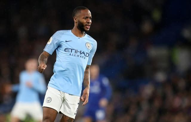 Raheem Sterling was targeted during a game between Chelsea and Manchester City in December 2018 (Adam Davy/PA)