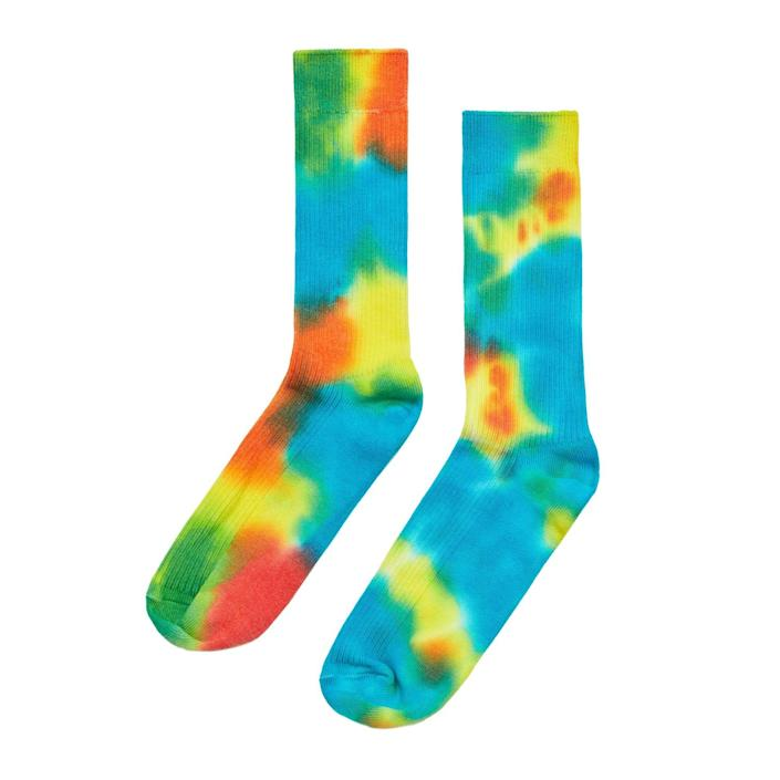 Locally-made tie-dye socks from Cotton Citizen